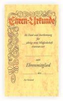 vorgedruckte Urkunde mit Lagertext 550412