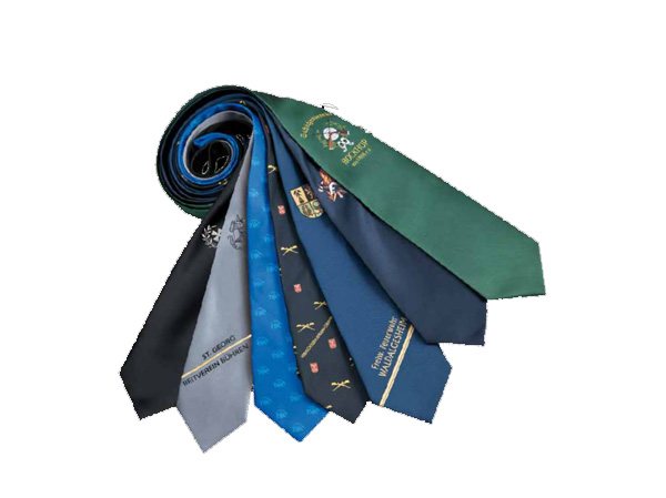 embroidered neckties and scarves