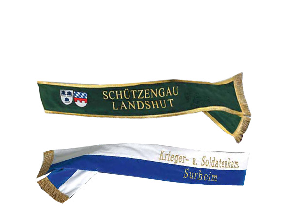 shoulder sashes