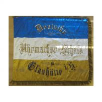 Guild flag of the watchmakers before the conservation