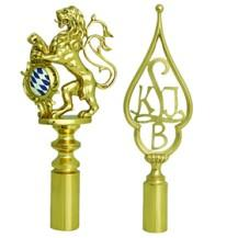 Flag finials for club flags and banners