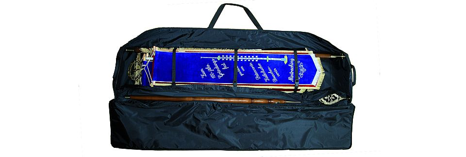 Transport bag for club flags and standards