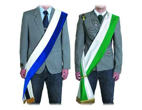 Sashes for homeland and costume clubs