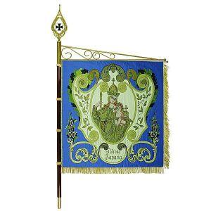 Standard of a warriors' club with Patrona Bavaria in elaborate ornamentation