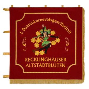 Standard of the ladies' carneval association with club motive