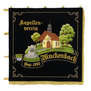 Standard of the chapel club with naturally embroidered landscape