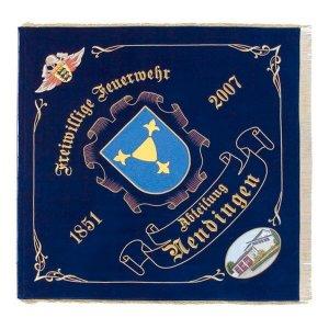 Flag with firebrigade emblem of Baden-Württemberg