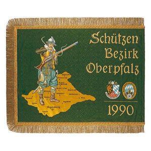 Schützenbezirk Fahne in ungewöhnlichem Format