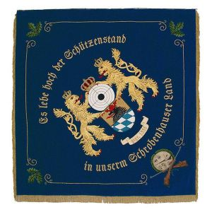 Bavarian lions holding target and municipality crest