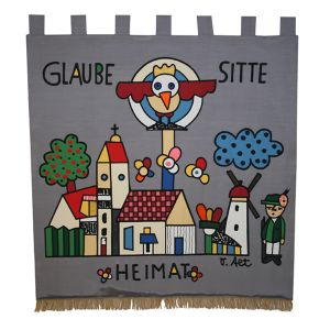 Home side of the shooting club flag Laer