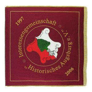 Vereinsfahne historische Interessengemeinschaft mit Ortswappen
