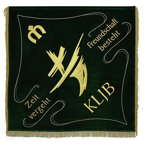 Club flag rural youth movement with the modern logo and motto