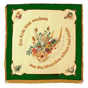 Vereinsfahne Obst- und Gartenbauverein mit farbenfrohen floralen Motiven