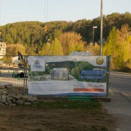 Information über geplante Projekte direkt am Straßenrand
