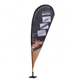 Beachflag in Tropfenform mit Bodenplatte