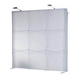 Faltwand-System mit Beleuchtung, Rahmen und Bespannung