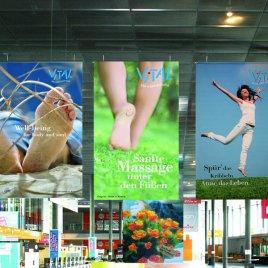 großflächige Werbung auf Indoor-Dekobannern