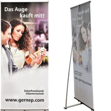 bedruckte Roll-Up Displays